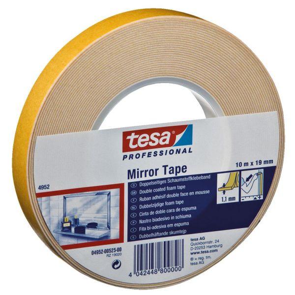 Tesa 4952 Monteringstape dobbelsidig, hvit 10 m x 19 mm