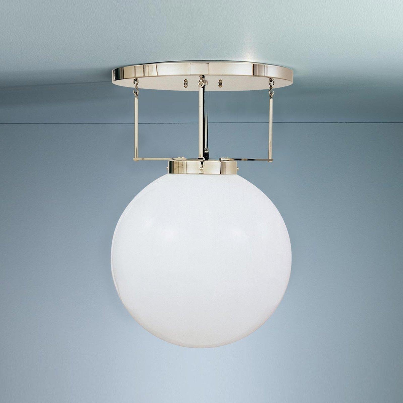 Taklampe i messing i Bauhaus-stil 25 cm