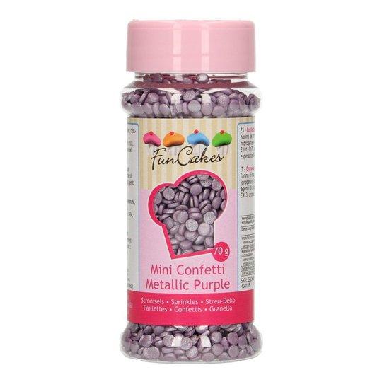 FunCakes Confetti Metallic Purple/Lila - 70 g