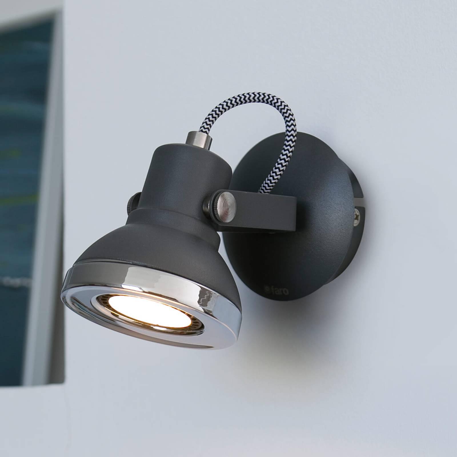 Ring - 1-lamppuinen LED-seinäkohdevalaisin, harmaa