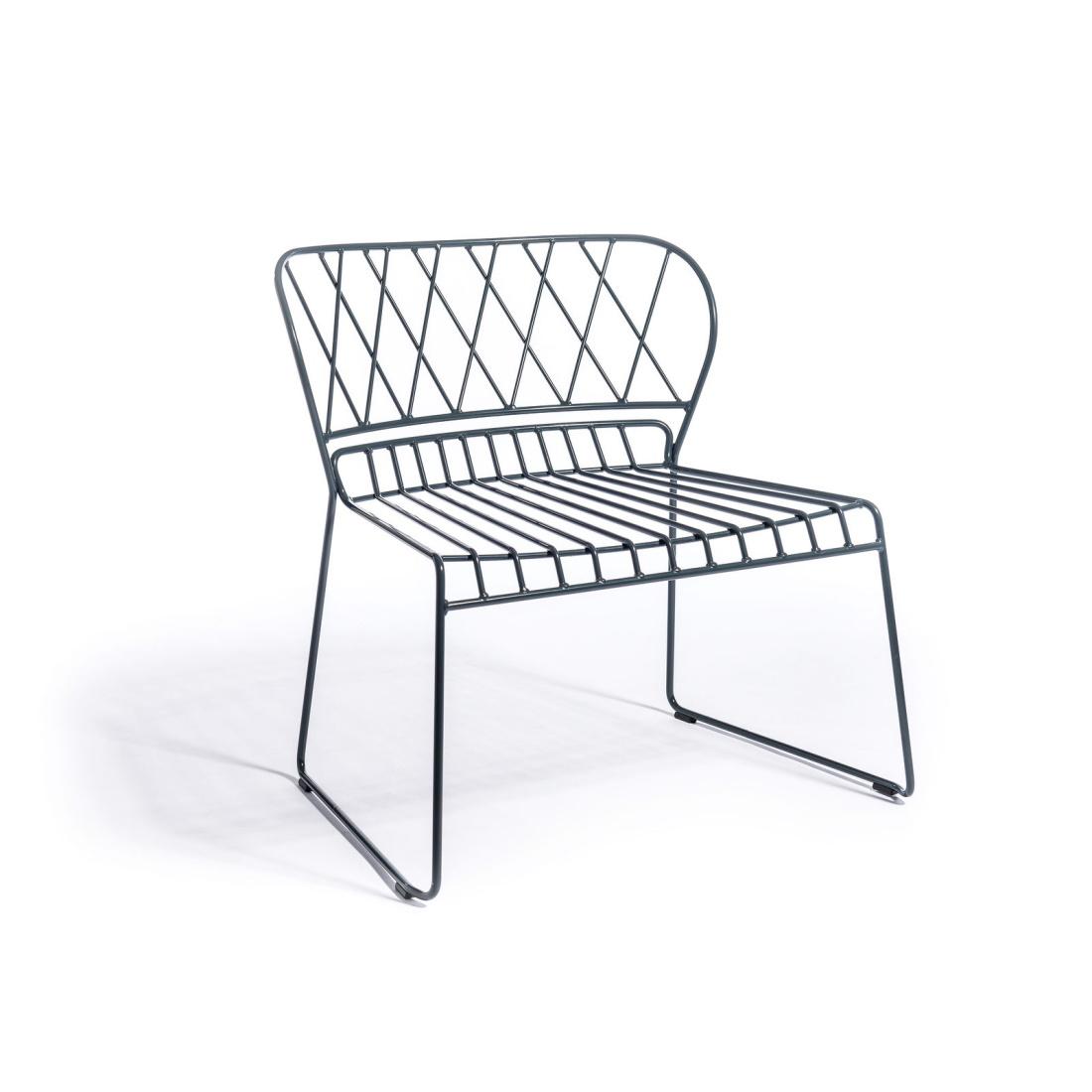 Resö Lounge stol grå metall, Skargaarden