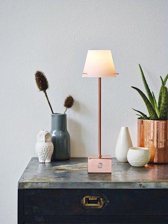 Gil bordlampe LED - Kobber, Hvit