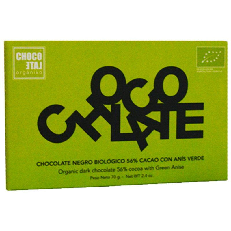 "Mörk Choklad ""Green Anise"" 70g - 50% rabatt"