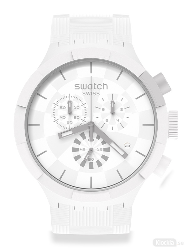 SWATCH Chequered white SB02W400 - Unisexklocka