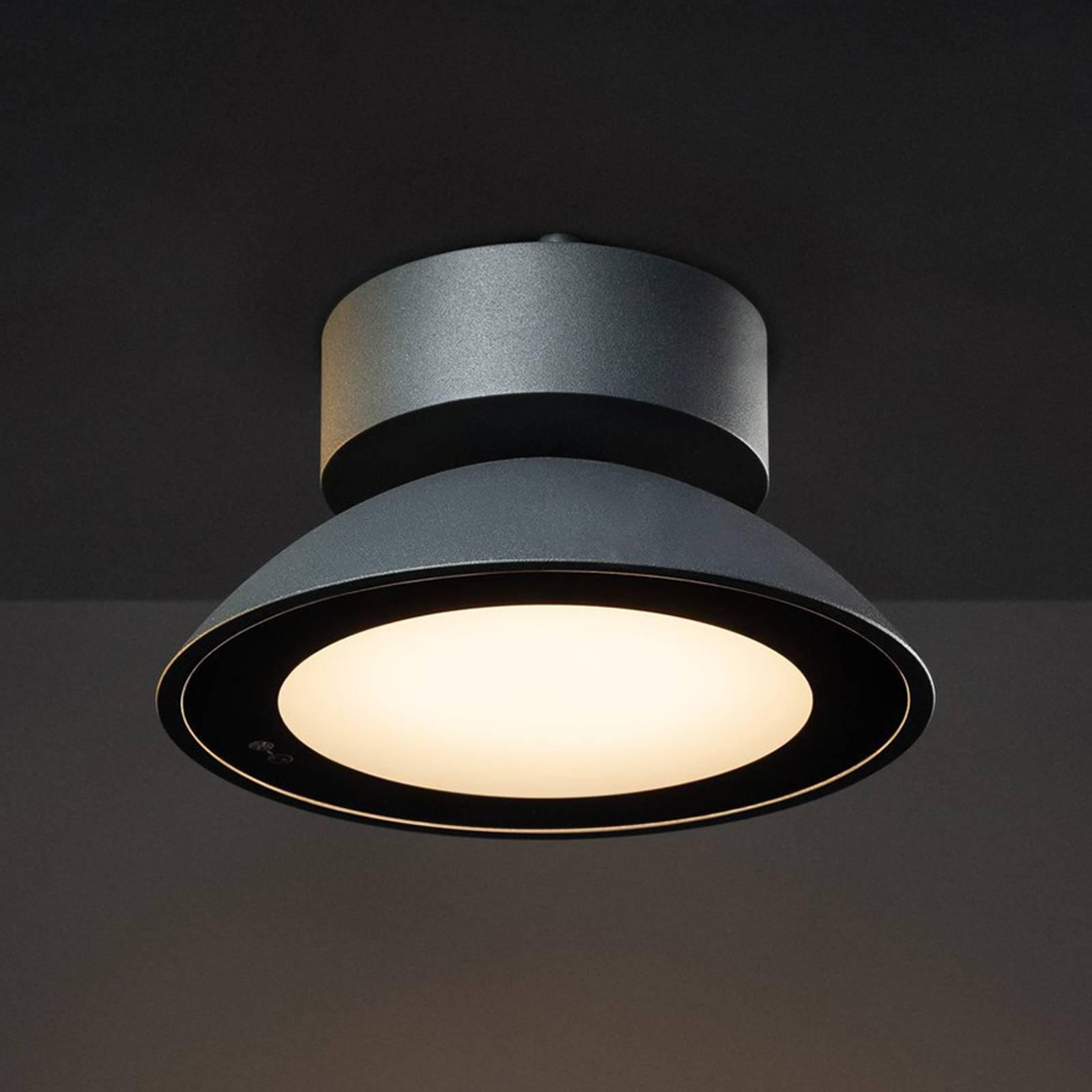 SLV Malu utendørs LED-taklampe, rund, antrasitt