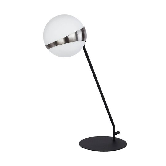 Bordlampe Parcel, hvit/sølv