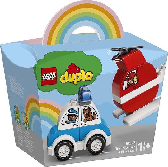 LEGO DUPLO 10957 Brannhelikopter Og Politibil