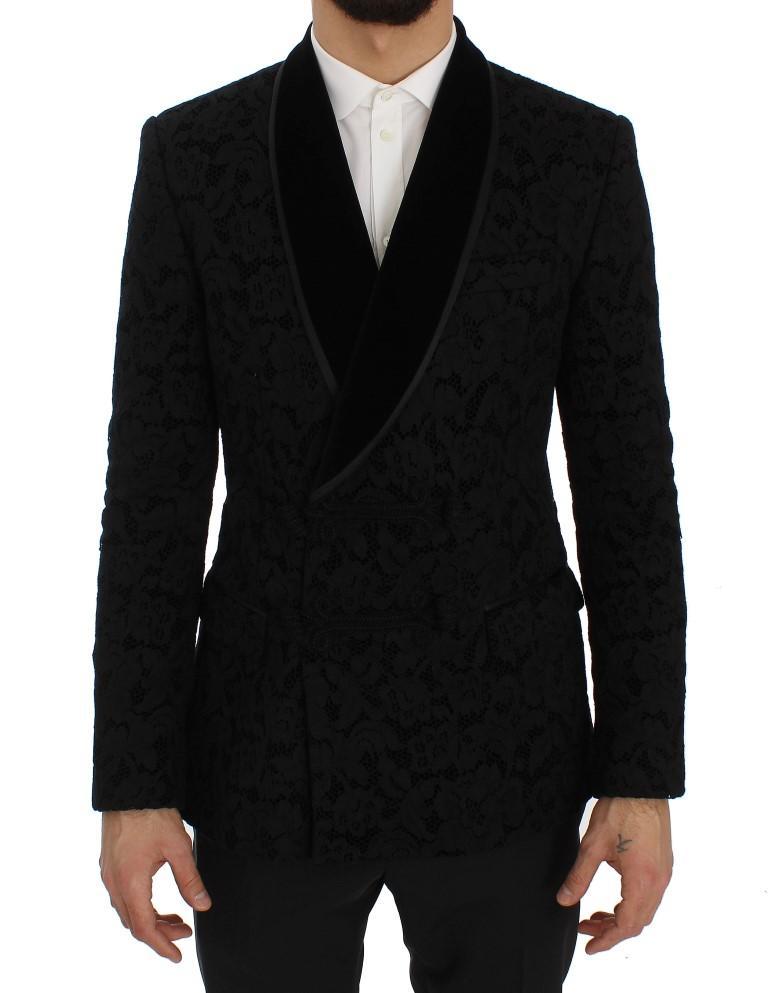 Dolce & Gabbana Men's Silk Slim Fit Blazer Black SIG50052 - IT50   L