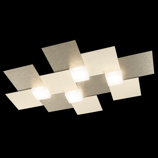 GROSSMANN Creo -kattovalaisin 4-lamp. 55x38,5 sham