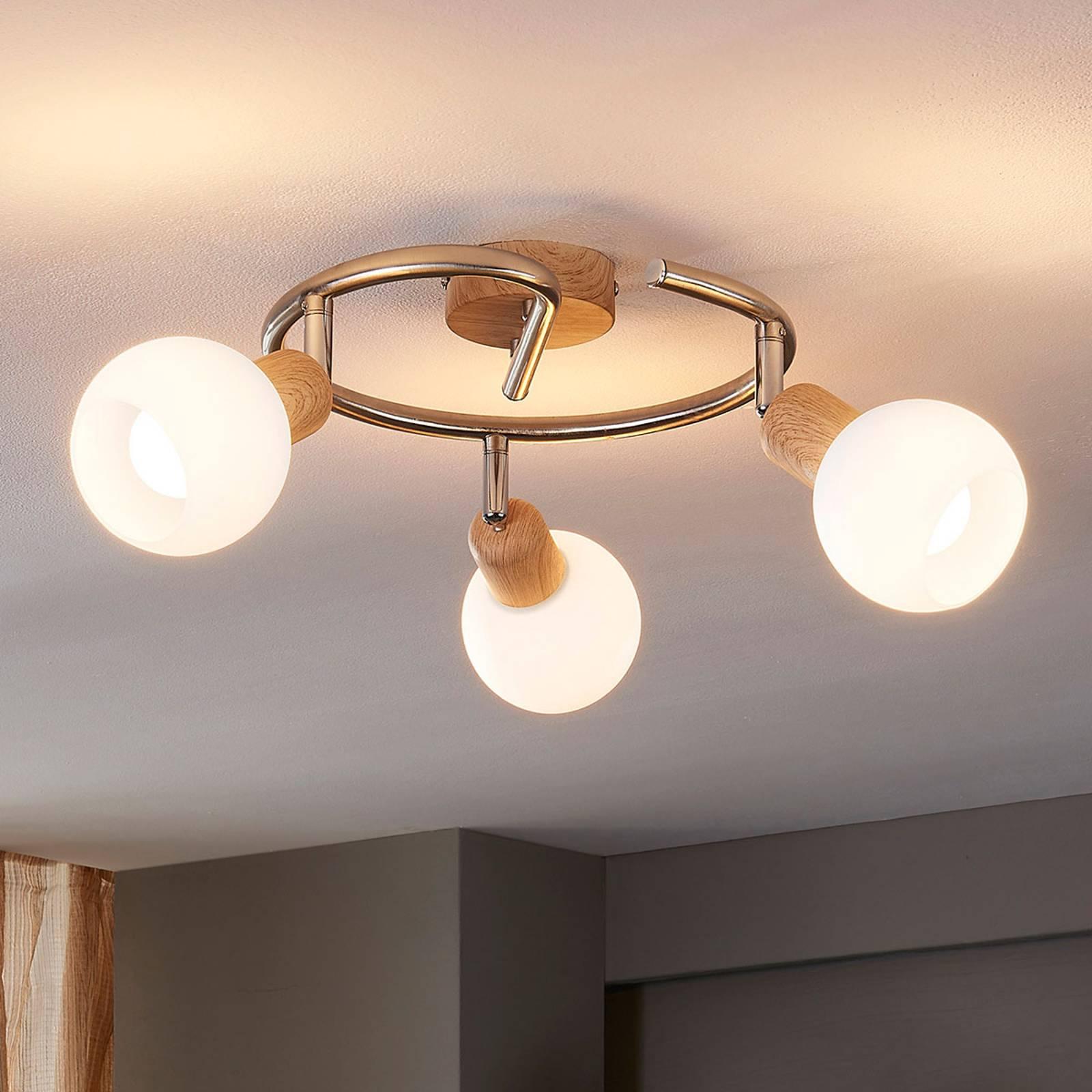 Puupintainen kattorondell Svenka, LED, E14
