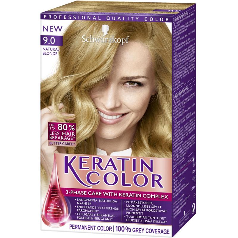 """Hårfärg """"Keratin Color 9.0 Natural Blonde"""" - 38% rabatt"""