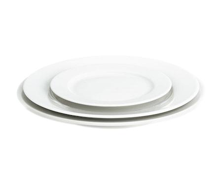Sancerre tallrik flat vit, Ø 28 cm