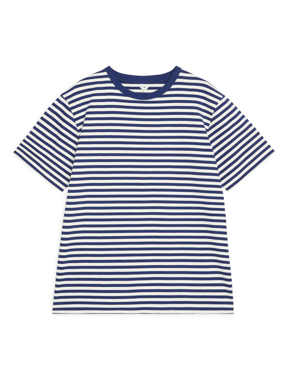 Striped Organic Cotton T-Shirt - Blue