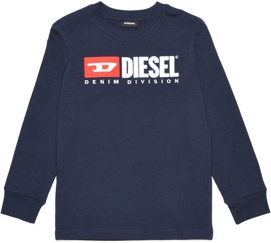 Diesel Tjustdivision Ml T-Shirt, Dark Blue 10 År