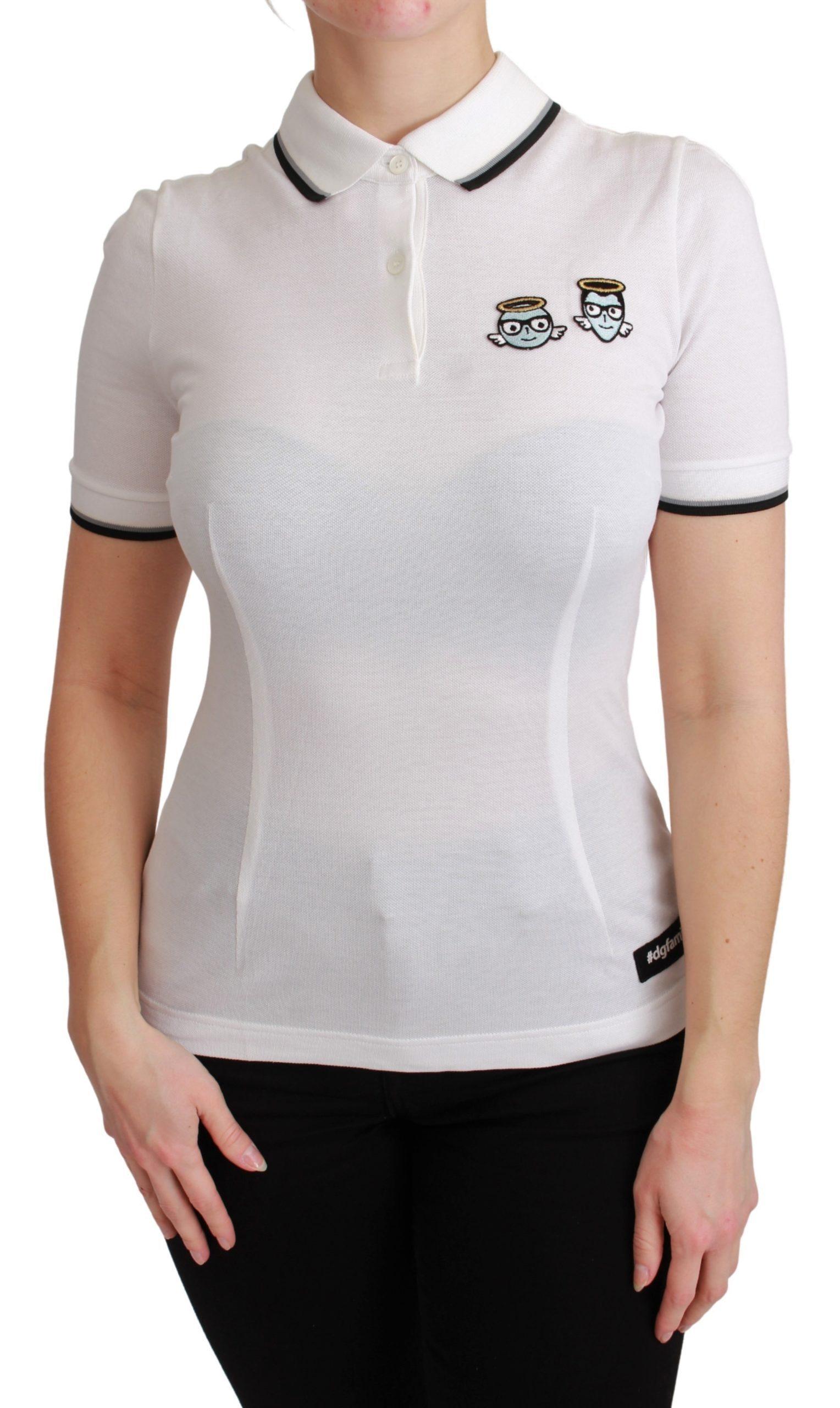 Dolce & Gabbana Women's Cotton Polo Shirt White TSH4550 - IT36   XS