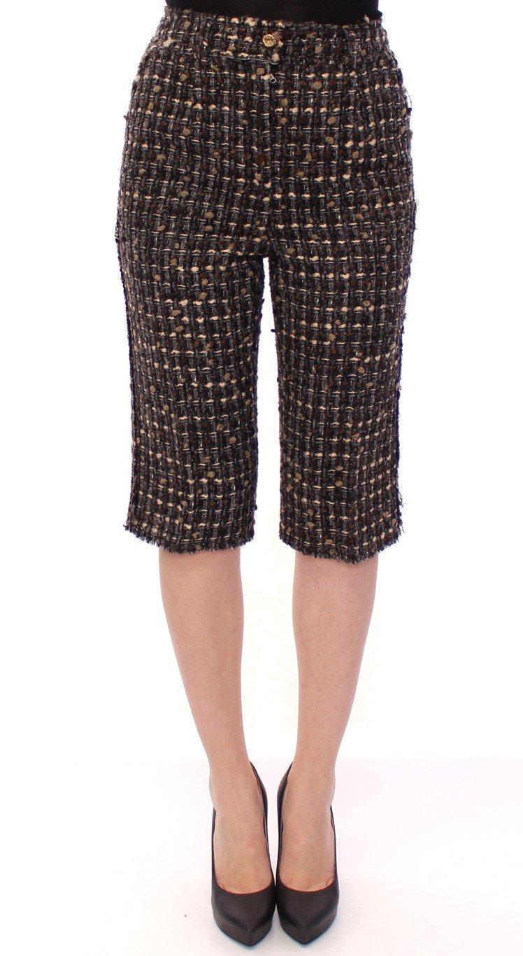 Dolce & Gabbana Women's Wool Shorts Multicolor GSS11735 - IT42|M