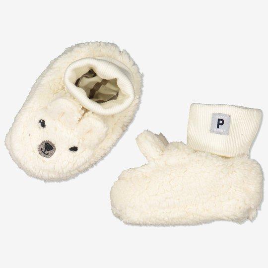 Piletøfler med ører baby hvit