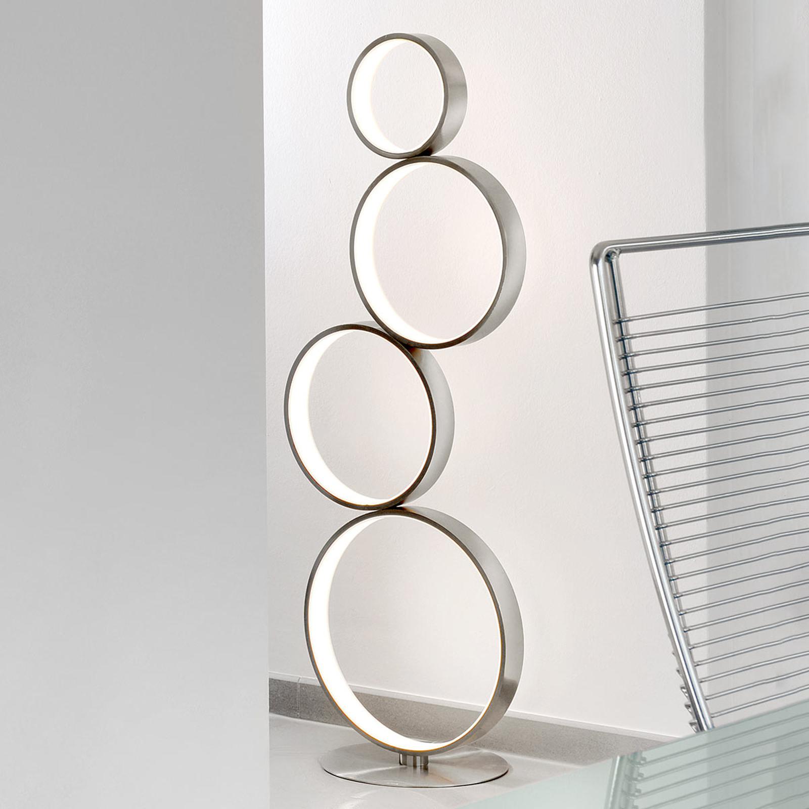 LED-lattiavalaisin Loop metallista