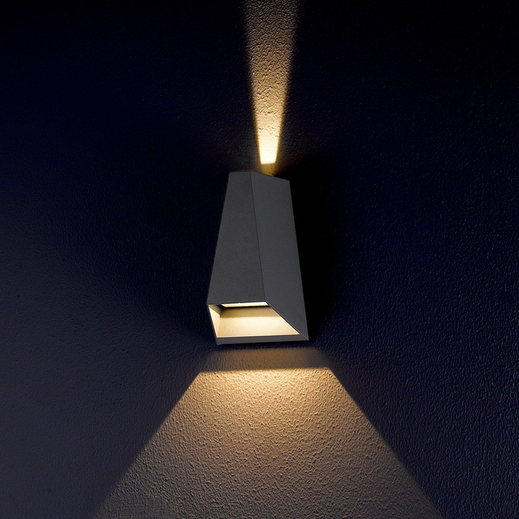 Utendørs Jendrik LED-vegglampe med to lysretninger