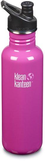 Klean Kanteen Classic Sports Cap Vannflaske 800ml, Wild Orchid