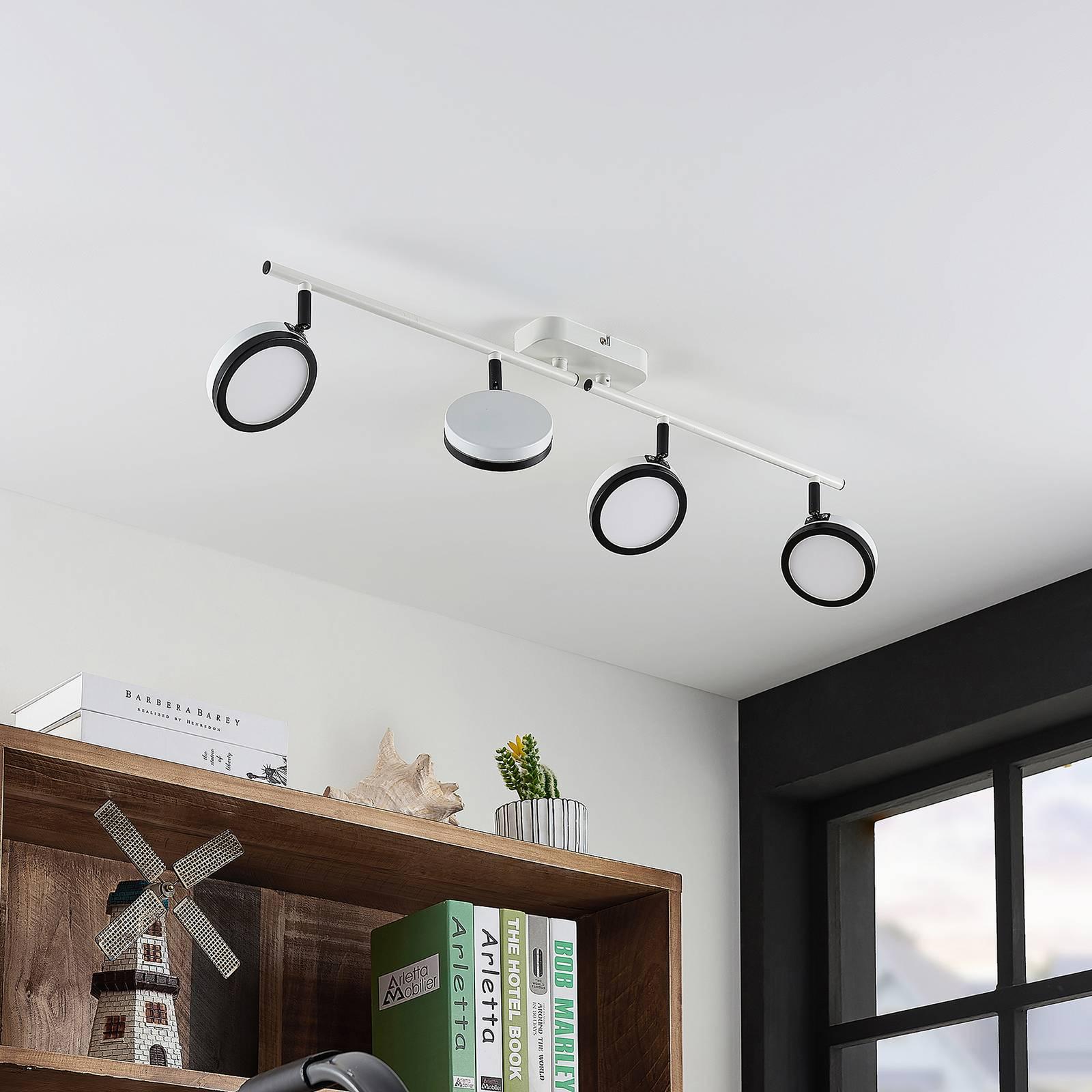 Lindby Vesim -LED-kohdevalaisin, 4-lamppuinen