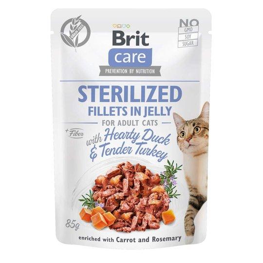 Brit Care Cat Adult Sterilized Anka & Kalkon i Gelé 85 g