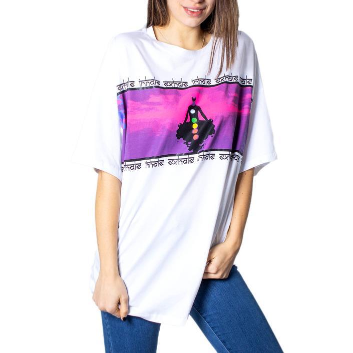 Desigual Women's T-Shirt White 171503 - white M