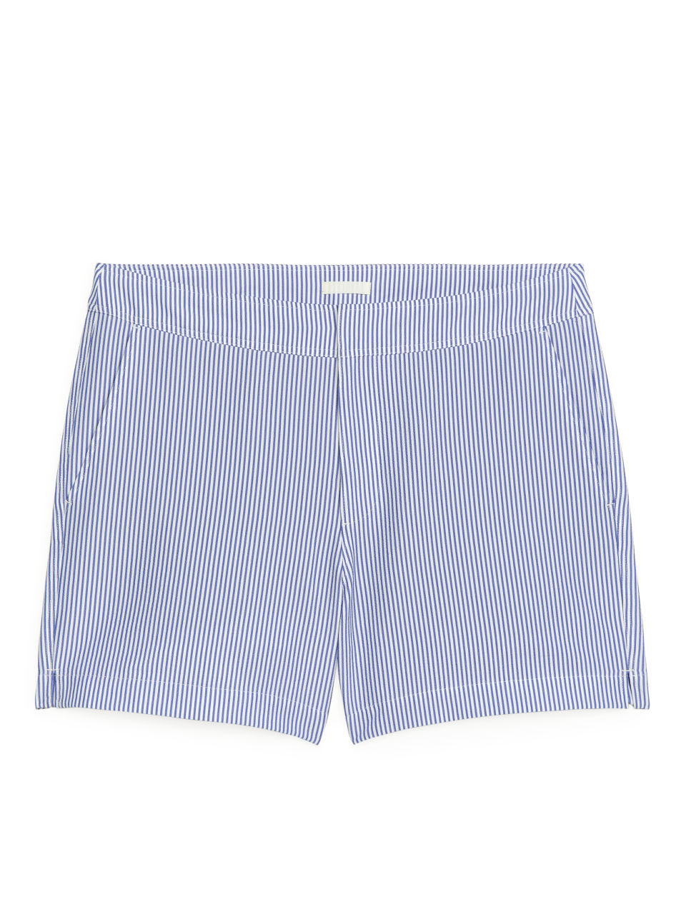 Seersucker Swim Shorts - White