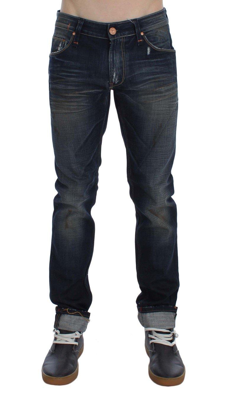 ACHT Men's Denim Straight Fit Jeans Blue SIG30499 - W34