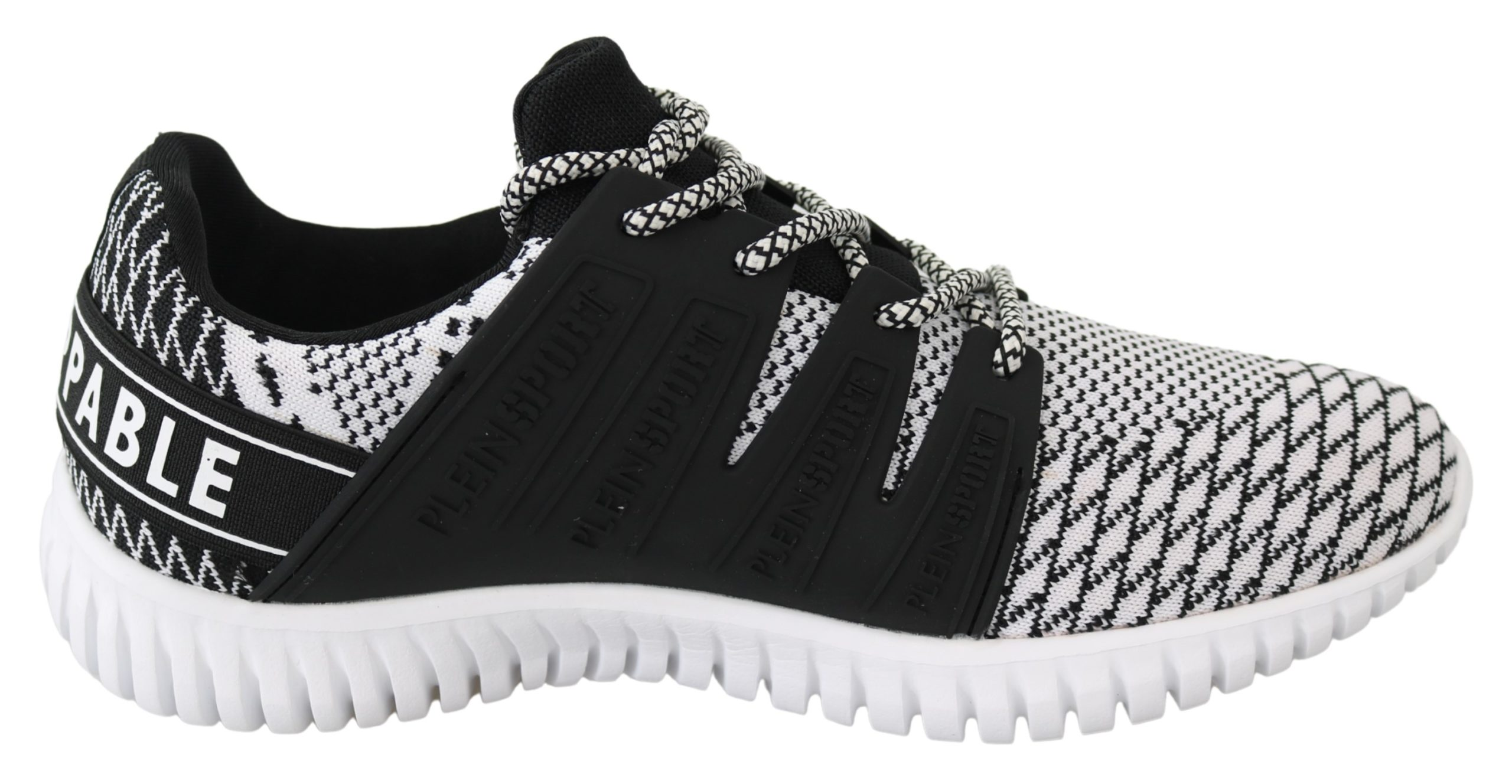 White Polyester Runner Mason Sneakers Shoes - EU40/US7