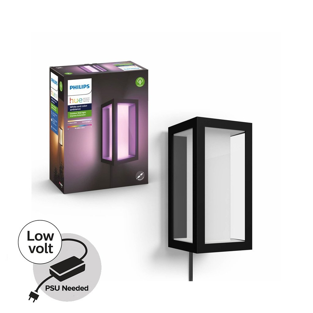 Philips Hue - Impress Wall Light - Hue Outdoor 24V - White & Color Ambiance