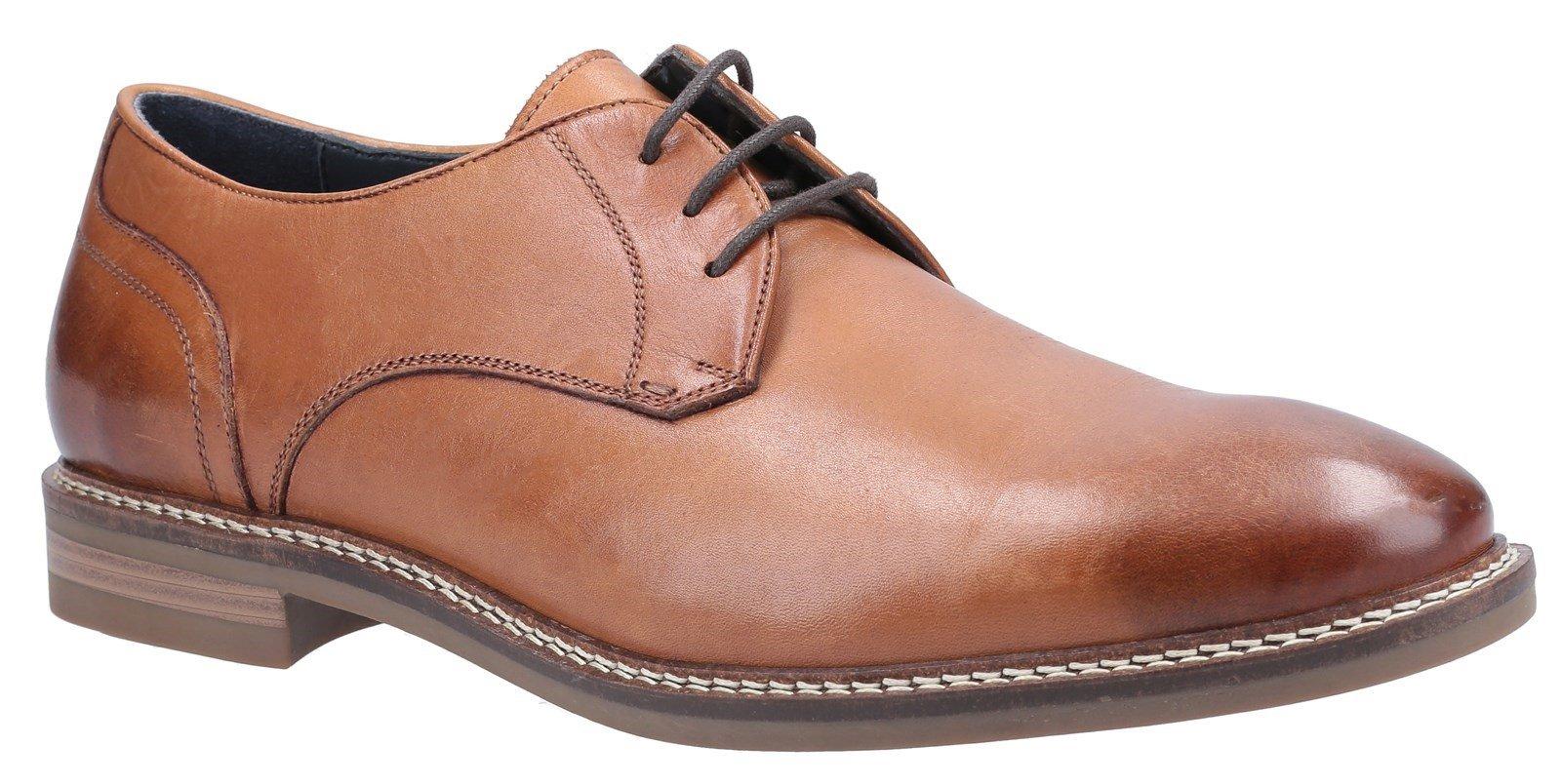 Hush Puppies Men's Brayden Lace Derby Shoes Various Colours 31279 - Tan 6