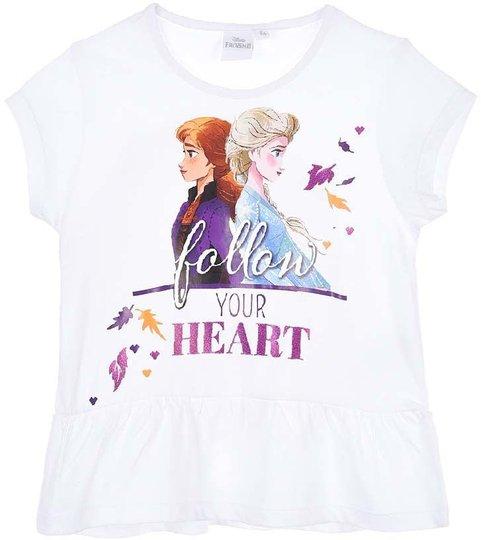 Disney Frozen T-Shirt, White, 6 År