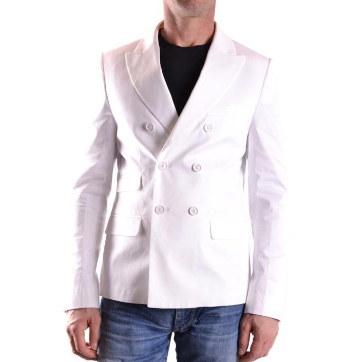 Daniele Alessandrini Men's Blazer White 188884 - white 48