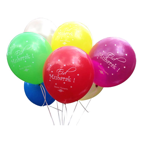 Ballonger Eid Mubarak - 10-pack
