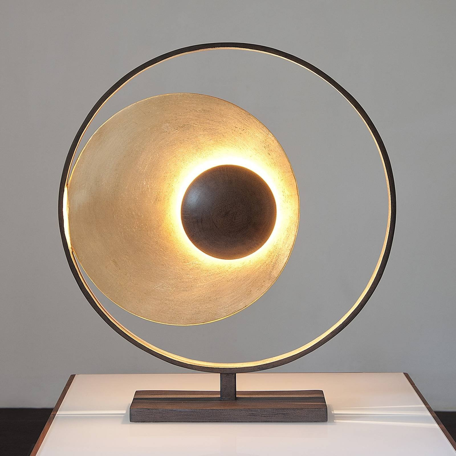 BordlampeSatellite i gullbrun, høyde 58