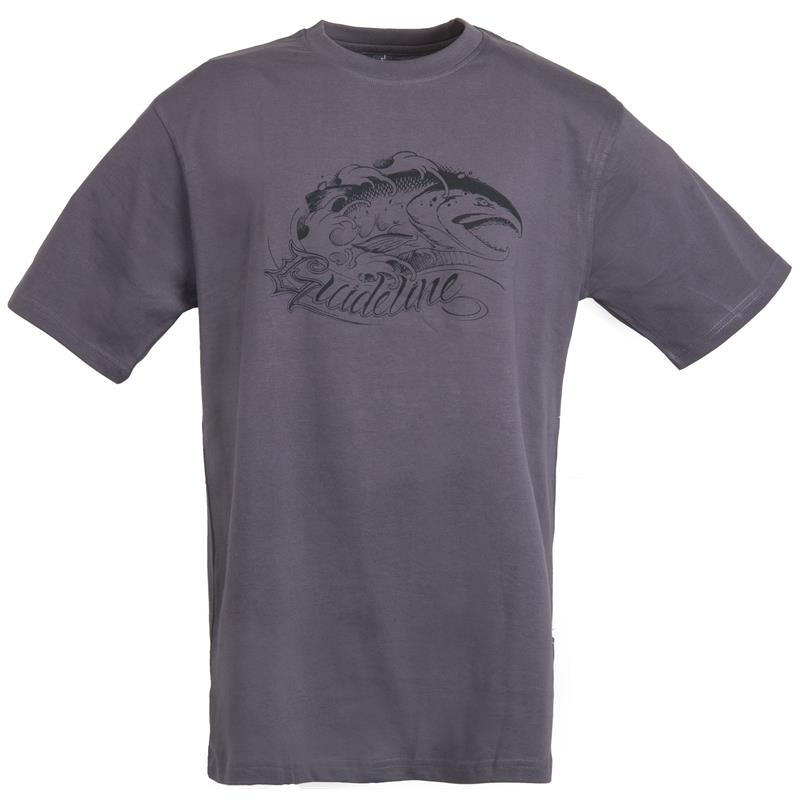 Guideline Angry Salmon t-skjorte 3XL ECO - Charcoal - herre
