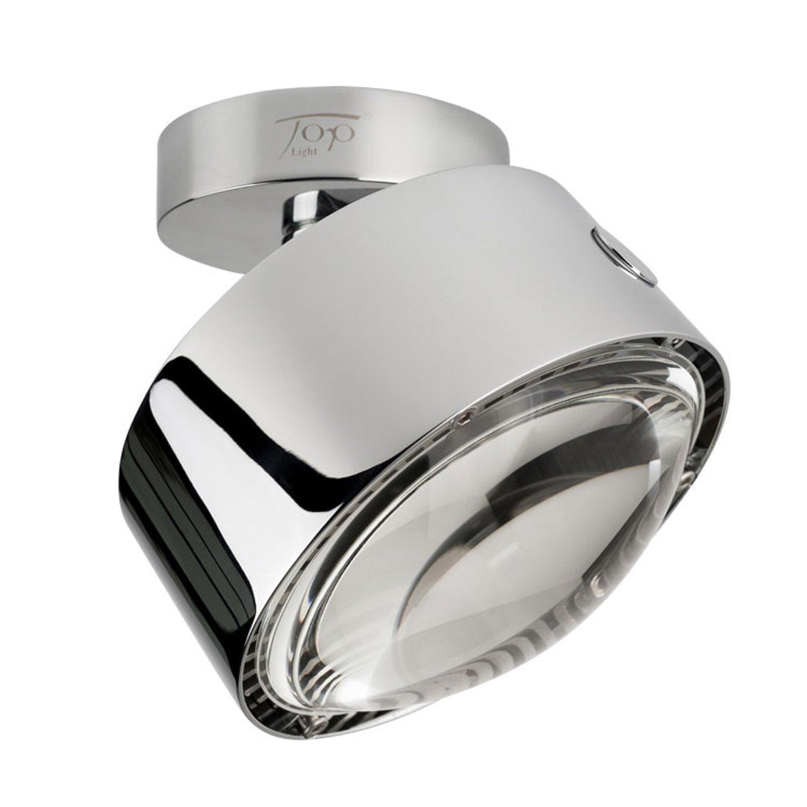 LED-taklampe Puk Maxx Move, krom