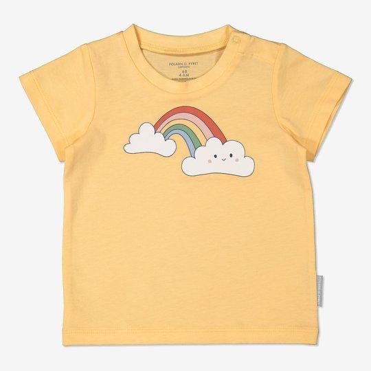 T-skjorte med trykk baby gul