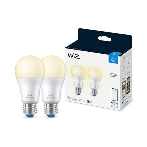 WiZ - Wi-Fi 2x A60 bulb E27 Soft White - Smart Home