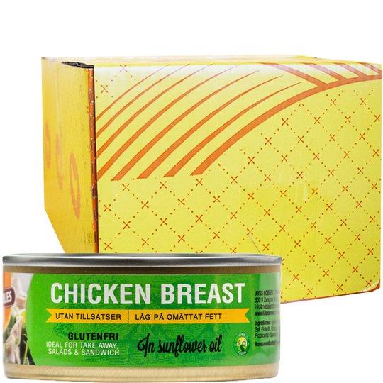 Hel Låda Kycklingbröst Olja 24 x 155g - 33% rabatt