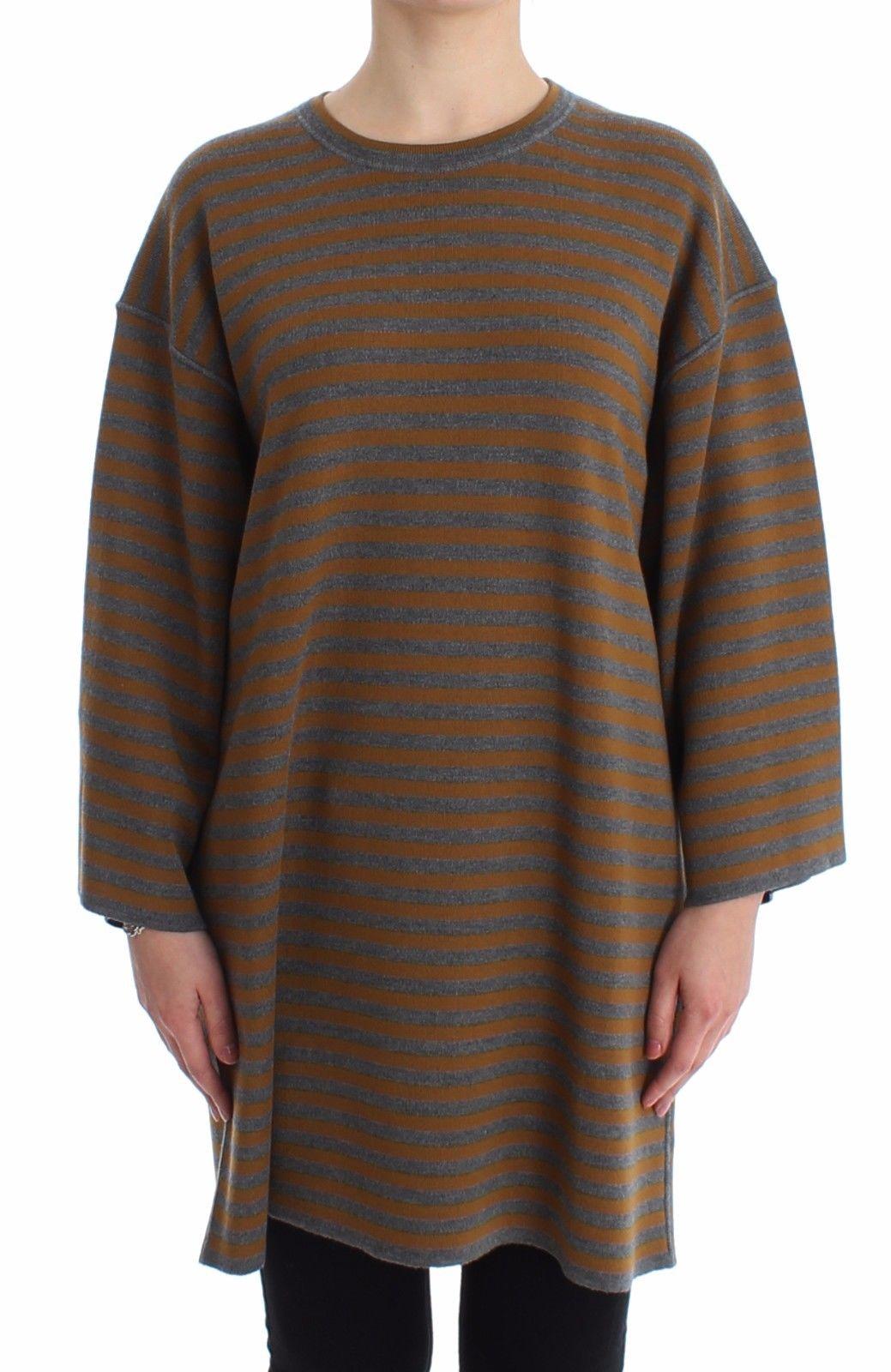 Dolce & Gabbana Women's Oversized Striped Top Gray SIG13232 - IT40  L
