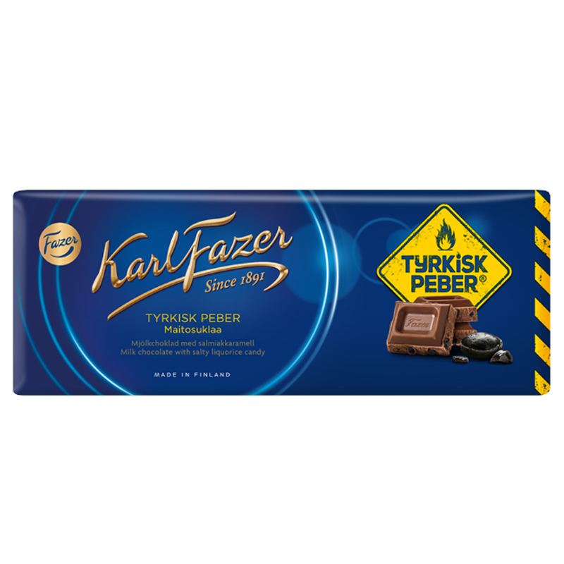 "Mjölkchoklad ""Tyrkisk Peber"" 200g - 28% rabatt"