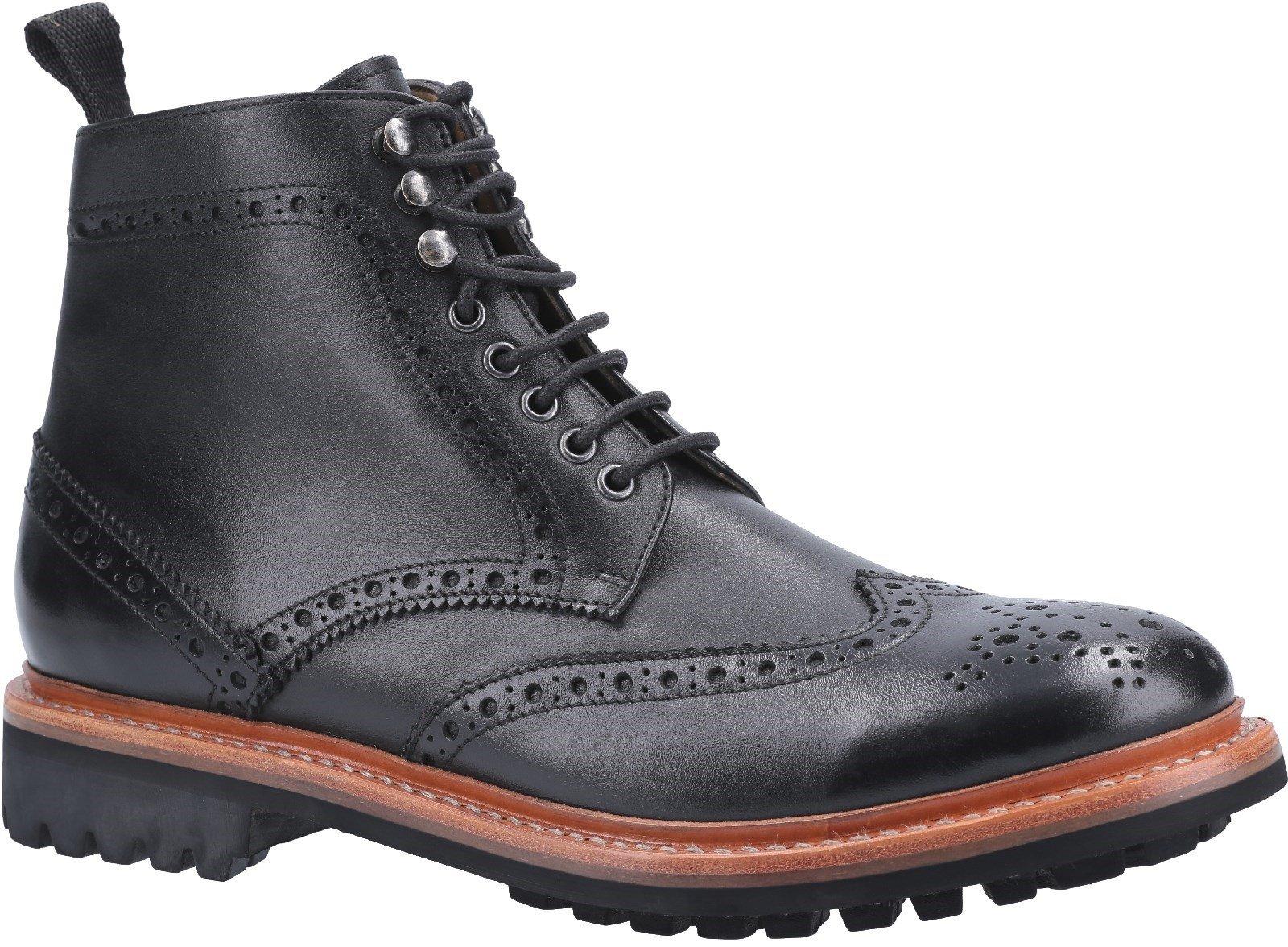 Cotswold Men's Rissington Commando Goodyear Welt Lace Up Boot Various Colours 29261 - Black 7