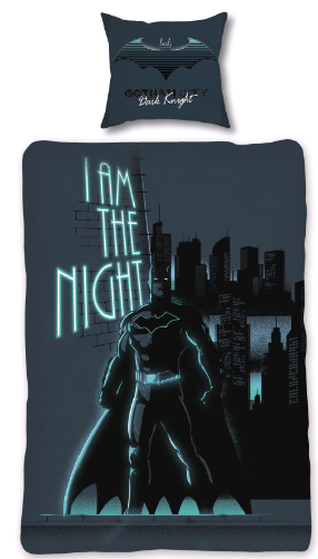 Bed Linen - Adult Size 140 x 200 cm - Glow in The Dark - Batman (BAT013 – CS)