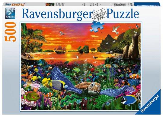 Ravensburger Puslespill Skäldpaddor i Revet 500 Brikker