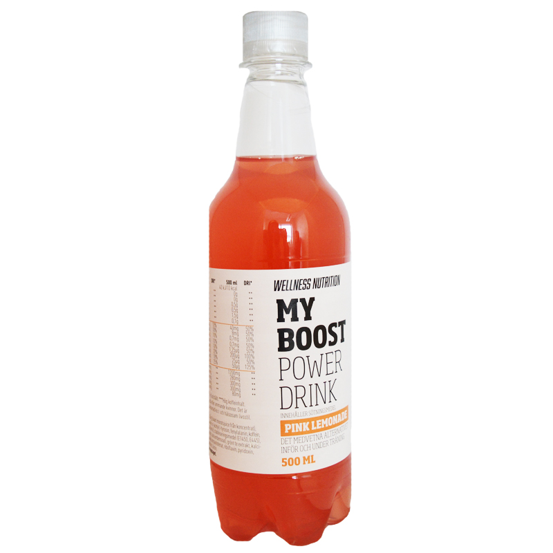"""Power Drink Pink Lemonade"" 500ml - 40% rabatt"