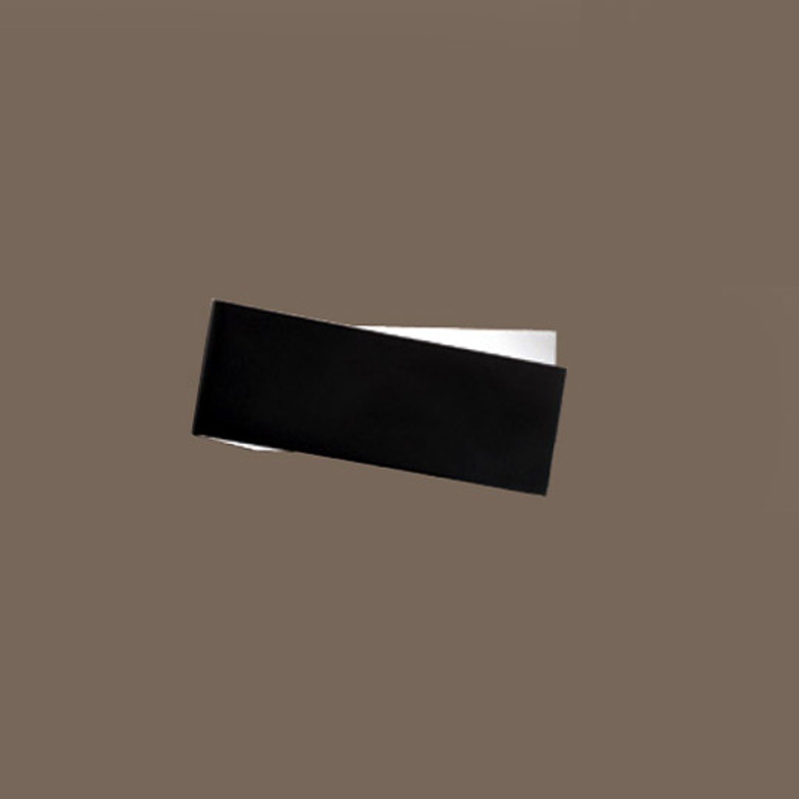 Eksepsjonell ZIG ZAG vegglampe, svart-hvitt, 26 cm