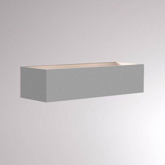 LOUM Foro LED-vegglampe 2 700 K bredde 30 cm sølv