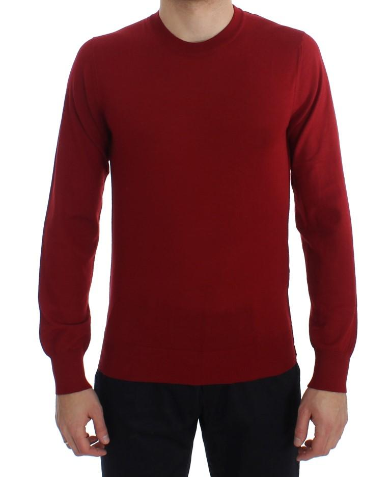 Dolce & Gabbana Men's Cashmere Crew-neck Pullover Sweater Red TIT20543 - IT48 | M